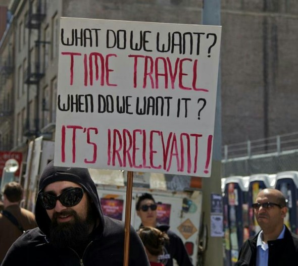 Wibbley-wibbley, Timey-wimey Protests